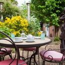 Restaurant la Breche  - la terrasse au jardin -