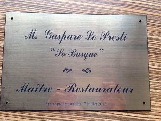 So'Basque  - plaque -