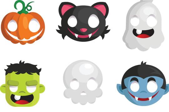 Masque d'Halloween: clown ou qui fait peur, comment le fabriquer?