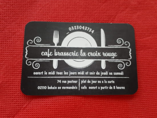 Café Brasserie de la Croix Rouge   © Carte de visite