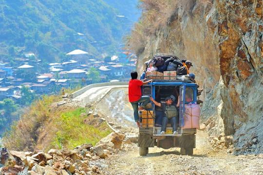 Trajet difficile sur l'île de Luzon