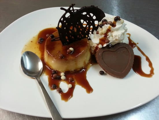Restaurant : L'Italiano  - Creme caramel fait  maison. -