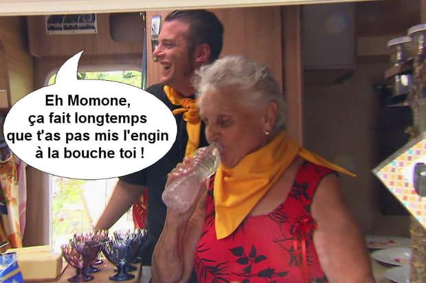 """Norbert à Simone: """"Eh Momone, ça fait longtemps que t'as pas mis l'engin à la bouche toi!"""""""