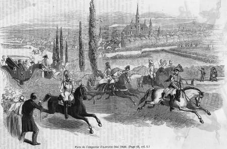 Suite aux émeutes, l'empereur Ferdinand s'enfuit de Vienne, François-Joseph devient empereur d'Autriche.