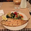 Plat : La Morue  - Plat du jour, filet de sole, asperge, artichaud, pomme de terrre -
