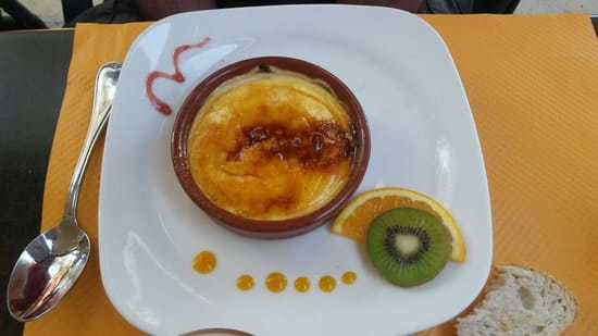 Dessert : Les Jardins De Saint Sébastien  - Creme catalane -