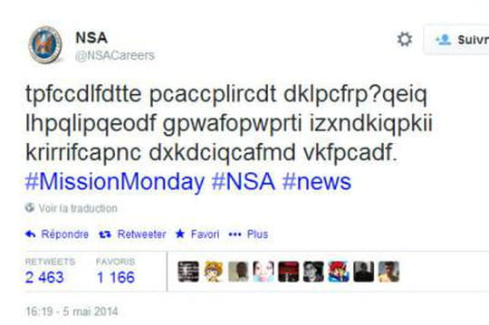 La NSA recrute grâce à des tweets codés