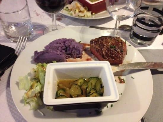 Plat : Chez Riquette  - Bon filet , courgettes délicieuses ...... -