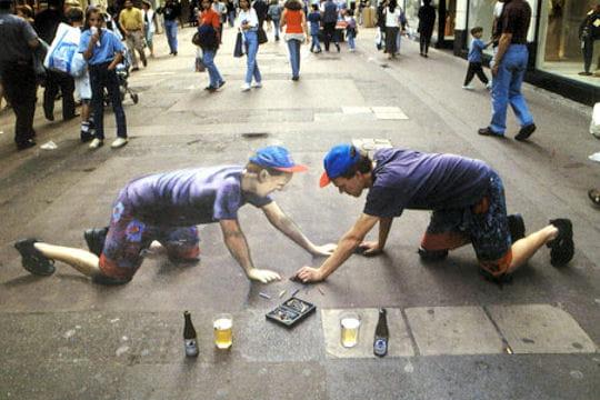 Les dessins de rue en 3D de Julian Beever