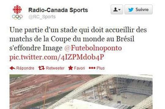 Brésil: accident meurtrier au stade deSao Paulo
