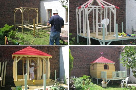 une cabane dans un coin de jardin. Black Bedroom Furniture Sets. Home Design Ideas