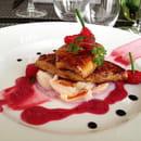 Le Passionné  - foie gras poêlé au litchi -   © le passionné
