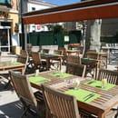 Restaurant le Safran Trets  - Terrasse du restaurant Le Safran, Trets -   © M. TAUPINARD (MEVIM)