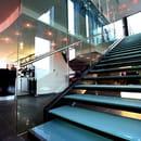 Vertigo  - Notre escalier montant à notre restaurant verrière -   © Vertigo