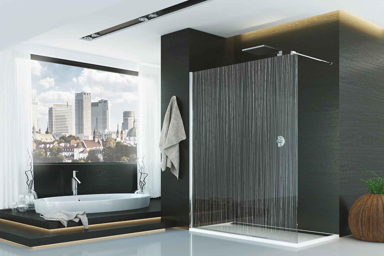 une douche l 39 italienne trompe l 39 oeil. Black Bedroom Furniture Sets. Home Design Ideas