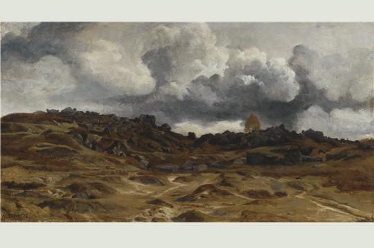 A. Desgoffe: Vue du massif des Trois pignons