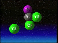 le chlore ainsi que le brome entraînent la destruction de l'ozone.