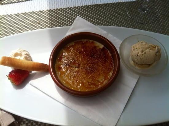 Dessert : Le Jean Raymond Sylvie  - Crème catalane à la cannelle accompagnée d'un sorbet à la figue -