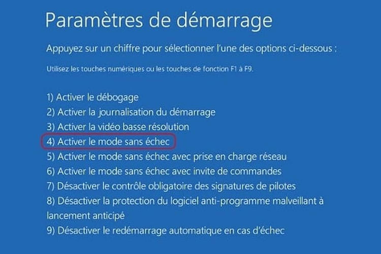 Comment démarrer Windows en mode sans échec