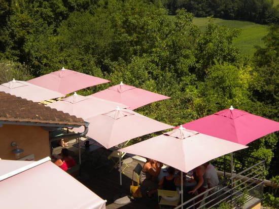 Restaurant : Les Terrasses de Belves  - Vue de la rue -   © N.BOUILHAGUET