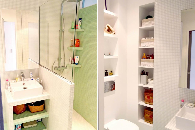 Une salle de bain sur mesure for Mesure salle de bain