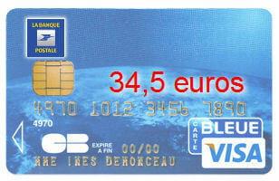Carte Bancaire Visa Classic.7e Ex Aequo La Banque Postale Avec Une Visa Classic A 34 5