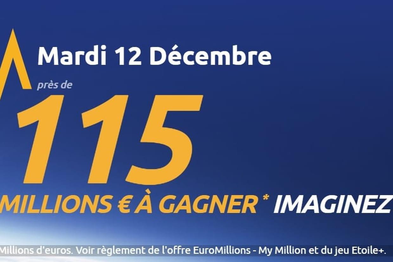 Le tirage de l'Euro Millions du mardi 12 décembre