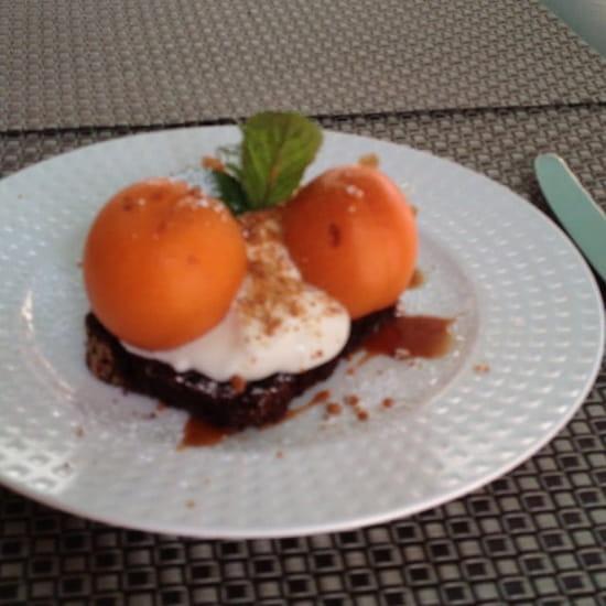 Dessert : Au Moulin à Café  - Biscuit, abricot infusés -