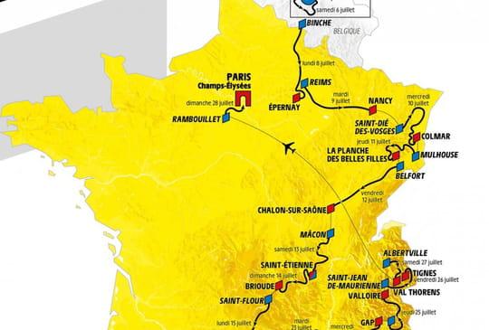 Tour de France2019: voici la carte du parcours!