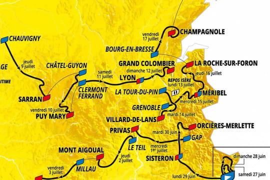 Tour de France: un parcours pour Pinot? Voici la carte du tracé