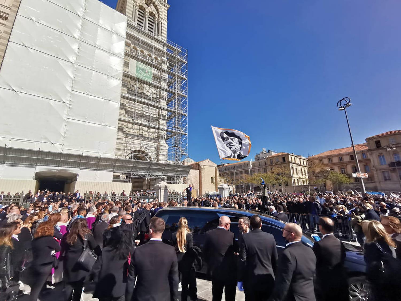 Bernard Tapie: les temps forts de ses obsèques à Marseille