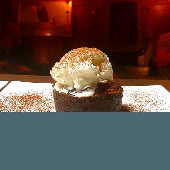 Dessert : La Dame de Canton  - Moelleux chocolat -   © DDC