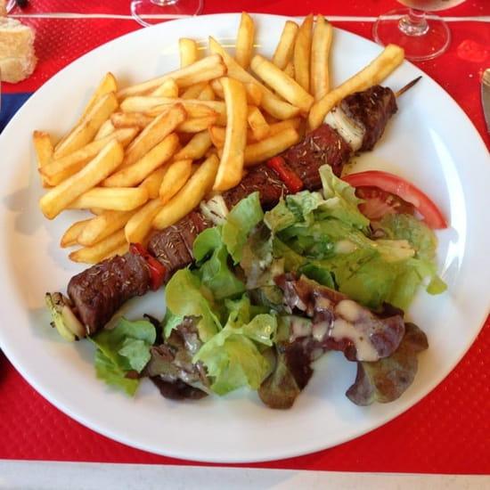 Plat : La Provençale  - Brochette de bœuf garnie du menu à 13€30 -