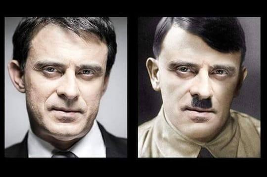 """""""Valls nazi"""": avant Mélenchon, Manuel Valls était déjà moqué en Hitler"""