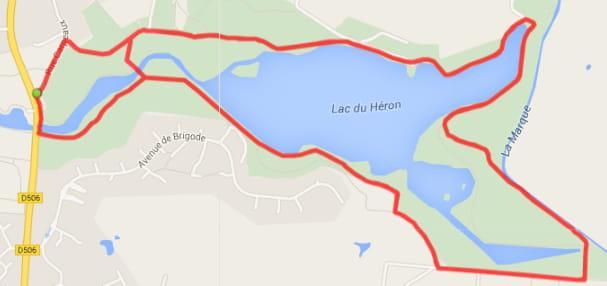 Lille : le lac du Héron (5km)