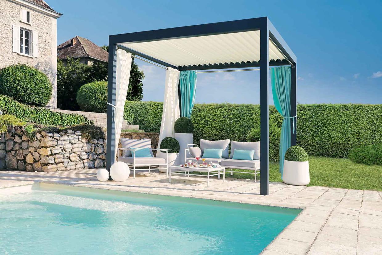 Une pergola bioclimatique pour la terrasse - Photos pergolas pour terrasse ...