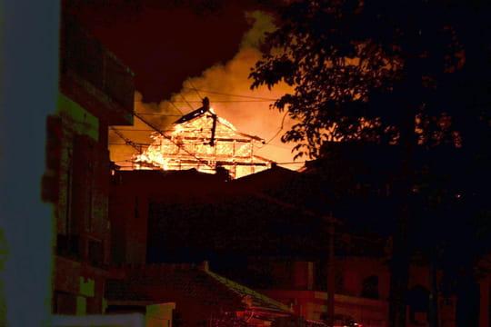 Château de Shuri: des images terribles de l'incendie, des dégâts considérables