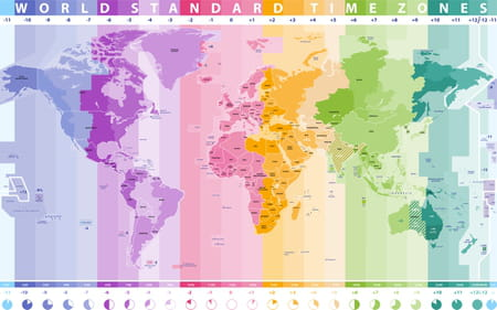 Carte des fuseaux horaires
