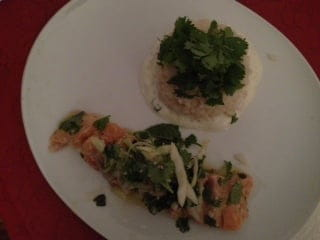 Le Victor Hugo  - Pavé de saumon mariné aux herbes et son riz crémeux -
