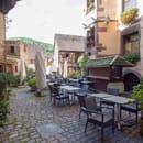 Restaurant : Au Lion d'Or  - La terrasse du restaurant -