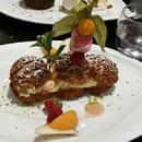 Dessert : Les Flots  - Paris-Brest revisité avec sa mousse de pêches  -