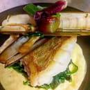 Plat : Le Gros Lierre  - plat du jour cabillaud et couteaux -   © yvp