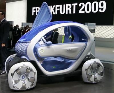 le twizy est un concept unique dans la production automobile. incroyable mais