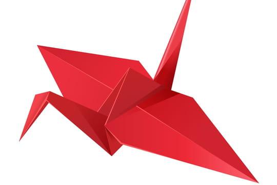 Grue en origami: comment la fabriquer