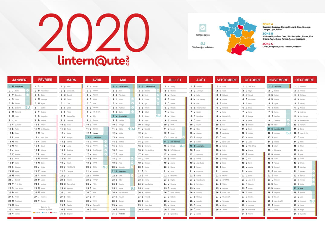 Ffcc Calendrier 2020.Calendrier 2020 Fetes