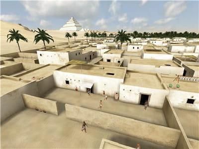 village des ouvriers reconstitué en 3d.