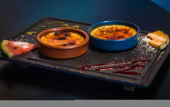 Dessert : Le QG  - Duo de crèmes brûlées -   © Restaurant le QG