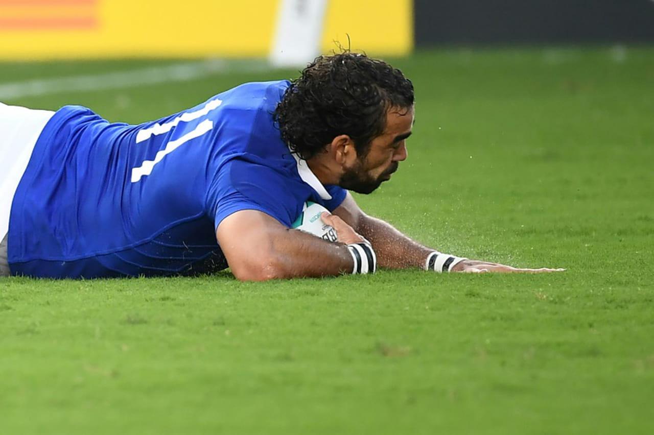 Mondial de rugby: le XV de France légèrement devant à la mi-temps contre les Etats-Unis 12à 6