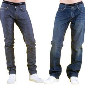 a gauche, une couple 'slim' et à droite un modèle 'regular'