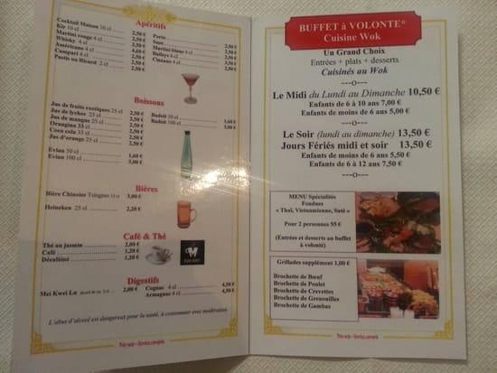 Restaurant : Le Vietnam  - La carte -